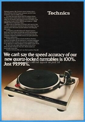 1979 Technics Q 2 Q 3 Quartz Locked Turntables Vintage Photo Print Ad