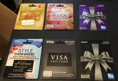LOT of 50 empty debit gift cards Zero balance SEALED NEW FREE SHIP $20-$200 CARD