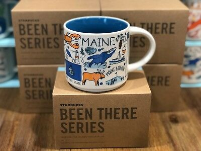 Starbucks BEEN THERE SERIES Collection BTS - MAINE Pine Tree State 14oz Mug NIB