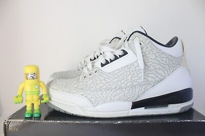 264e097f5e49 Air Jordan 3 Retro Flip White SZ 10.5 Cement Grey elephant print iii 315767- 101