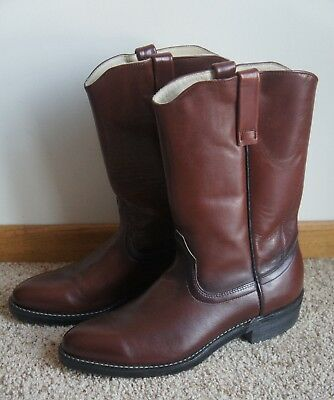 0bd637df278 VINTAGE RED WING Shoes Pecos 1472 Brown Leather Western Style Boots 10.5 B