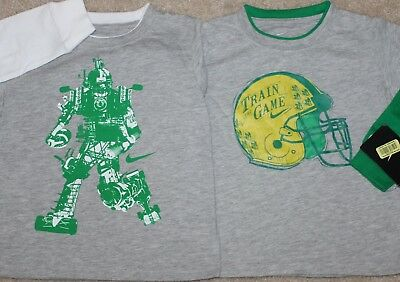 New! Toddler Boys Lot of 2 Nike Shirts (Long Sleeve; Football; Robot) - Size 3T