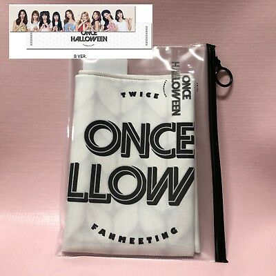 TWICE Official SLOGAN TOWEL Fan Meeting ONCE HALLOWEEN Goods Limited B Version