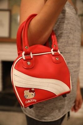 Hello Kitty Red Faux Leather Bag Purse Vintage Red Small
