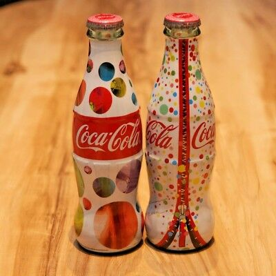 2014 Coca Cola Turkey Empty Glass Turkish Bottle Arzu Kaprol Limited Set Of 2