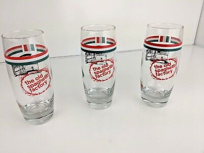 The Old Spaghetti Factory Glass Set of 3 Collectible | EXCELLENT CONDITION