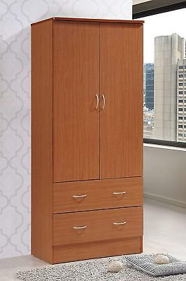 Amazing Tall Armoire Wardrobe Closet Cabinet Bedroom Furniture Clothes Storage Organizer Beutiful Home Inspiration Ommitmahrainfo