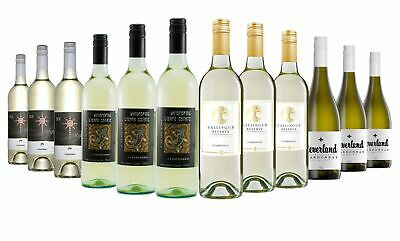 Summer Varietal Chardonnay White Wine Mixed 12x750ml RRP$219 Free Shipping