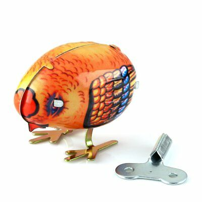 US Vintage Retro Wind Up Pecking Chick Model Tin Toy Collectible Gift w/ Key New