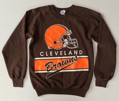 WOW Vintage 70s 80s Cleveland Browns NFL Grid Iron Jumper Sweater Made USA Small