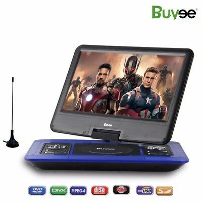 13.3 inch Portable DVD Player 270° Swivel Screen Charger USB Rechargeable Blue