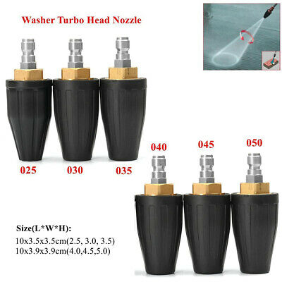 Washer Turbo Head Nozzle for High Pressure Water Cleaner 3600PSI 2.5/3.0/3.5/4.0