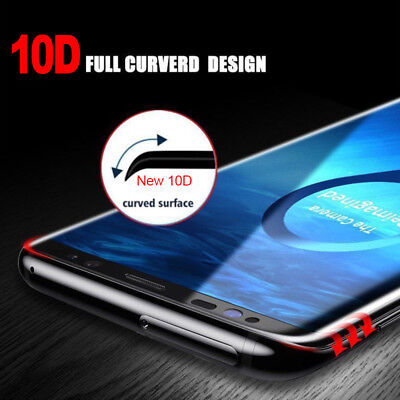 10D Full Cover For Samsung Galaxy Note 9 S9 S8 Real Tempered Glass Case Friendly