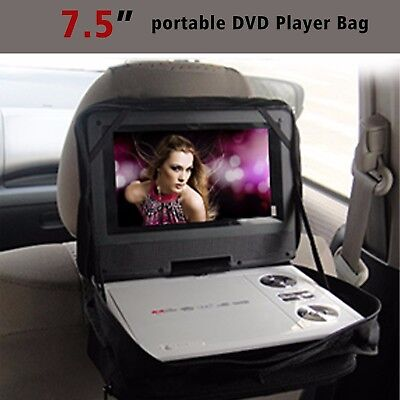 "Car Headrest Mount Holder Case Carry Bag w Strap for 7"" 7.5"" Portable DVD Player"
