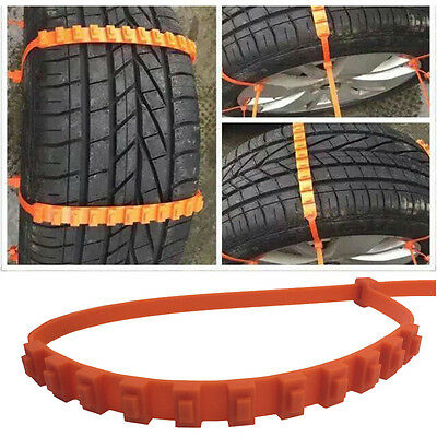 1PCS Car Truck Snow Ice Wheel Tyre Tire Anti-skid Chains Thickened Tendon Kit