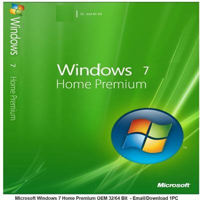 Windows 7 Home Premium Software Download 32/64 Bit Vollversion Laptop (no key)