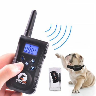 Dog Training Collar Rechargeable Electric LCD 100LV Shock Waterproof 500 Yard