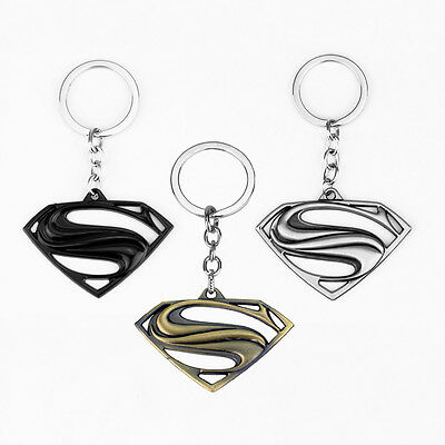 Superman Keychain Keyring 3D Metal Key Ring Pendant Fob Holder DC Superhero