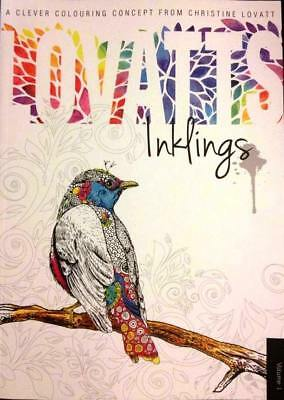 Lovatts Inklings by Christine Lovatt Adult Colouring Puzzles Book - NEW