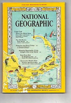 National Geographic Magazine August 1962 ( Cape Cod Boston Bali  )