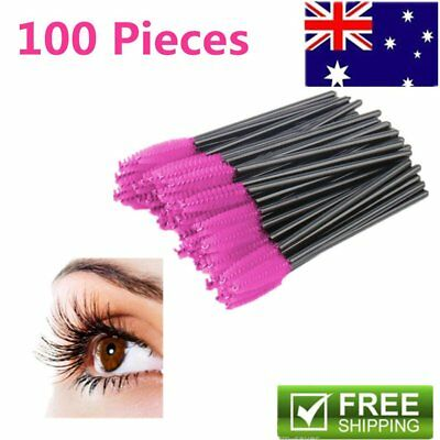 50/100x Disposable Eyelash Brush Mascara Wands Extension Applicator Spoolers A~