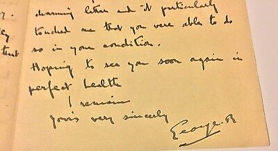 X Rare King George V of England Handwritten and Signed Letter 1925