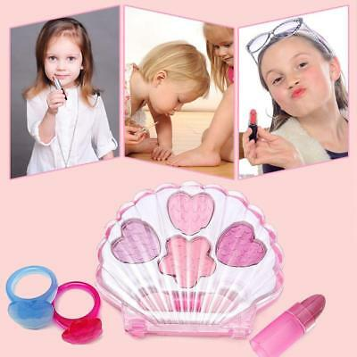 All Natural Play Kids Girls Makeup Set Ring Eyeshadow Lipgloss Princess