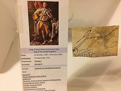 Lot of 3 English Autographs King George III, George IV w Seal and Prince Edward