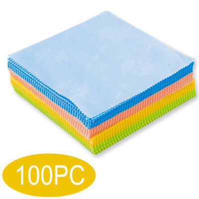 100 pcs High Quality Microfiber Cleaning Cloths for Lens Glasses TV Phone Screen