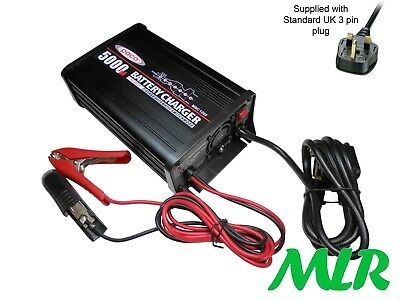 Paco 7 Stage Automatic Battery Conditioner Maintenance Car Charger 5Amp 12V Bec