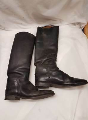 Genuine Ex-British Military Household Cavalry All Leather Riding Boots   Size 10