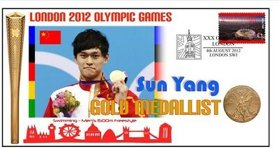 Sun Yang 2012 Olympic China Swimming Gold Medal Cover
