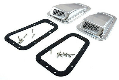 Land Rover Defender 90/110/130 Air Grille Set Of 2 Acier Inoxydable