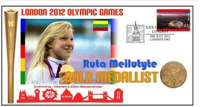Ruta Meilutyte 2012 Olympic Swmming Gold Medal Cover