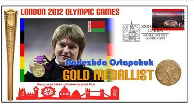 Belarus 2012 Olympic Womens Shot Put Gold Medal Cover