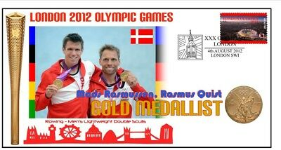 Denmark 2012 Olympic Mens Rowing Team Gold Medal Cover