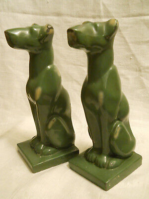 Great Dane Dog Bookends ~ 1928 Art Deco Style ~ J. F. Company Book Ends