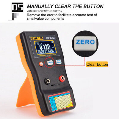 MESR100 V2 Auto Ranging In Circuit ESR Capacitor Meter Tester 0.001 to 100R+Clip