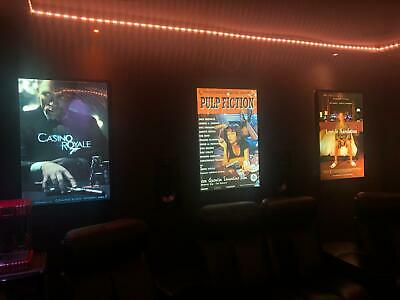 """LIGHT UP FRAMES FOR 30""""x40"""" UK QUAD POSTERS + GOOGLE HOME & ALEXA WIFI ADAPTER"""