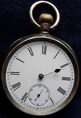 OMEGA  Solid Silver Swiss Pocket Watch for Spares / Repairs circa 1905