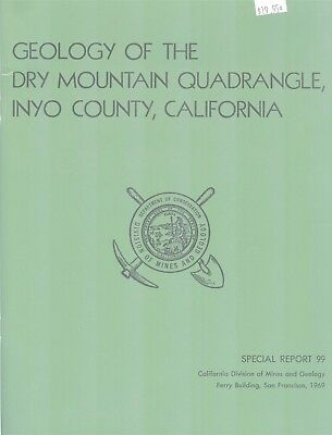 California Mines Geology Special Report 99 1969 INYO COUNTY Dry Mountain Map