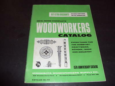 Woodworkers Catalog 23 Minnesota Woodworkers Supply Co Id 34272