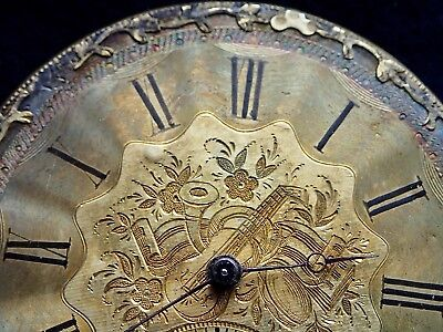 STAUFFER Geneve Working Pocket Watch Movement 1850 Musical Instruments on dial