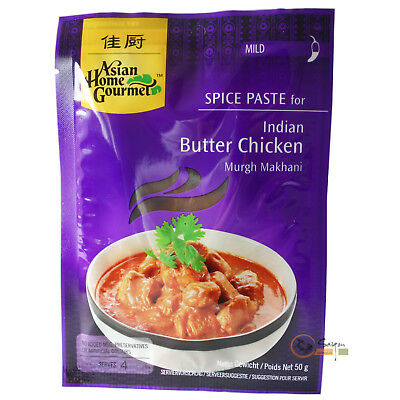 6x50g AHG Würzpaste für indisches Curry Butter Chicken Asian Home Gourmet mild