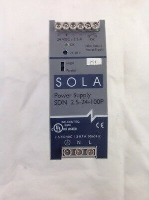 24Volt DC Power Supply SOLA SDN 2.5-24-100P
