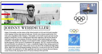 Olympic Games Legends Cover Johnny Weissmuller Swimming