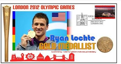 Ryan Lochte 2012 London Olympic Swimming Gold Cover 1