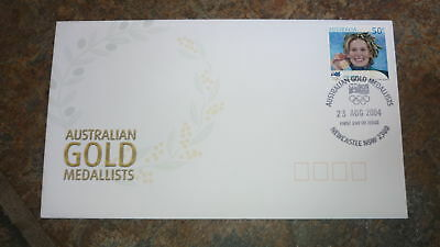2004 Australian Olympic Gold Medal Stamp Fdc, Jodie Henry Swimming, Newcastle Pm