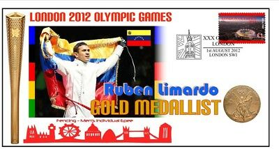 RUBEN LIMARDO 2012 OLYMPIC FENCING GOLD MEDAL Cv, EPEE