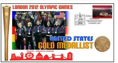 Usa Womens Soccer Team 2012 Olympic Gold Medal Cover 1